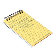Library Card Miniature Note Pad