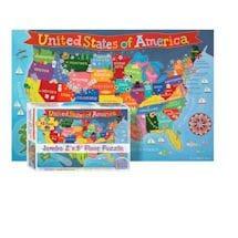 Jumbo Floor Puzzle: USA