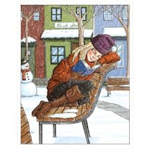Winter Reader Note Cards