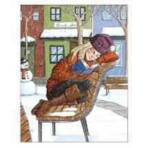 Winter Reader Note Cards