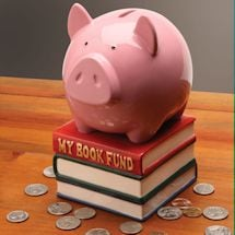 Book Fund Piggy Bank
