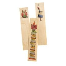 Whimsical Wooden Bookmarks