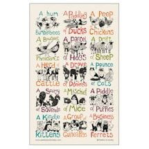 Collective Noun Tea Towel: Animals