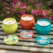 Citronella Candle Tins - Small - White Verbena and Pear