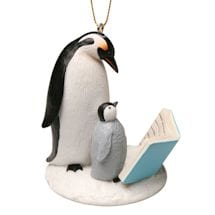 Reading Penguins Ornament