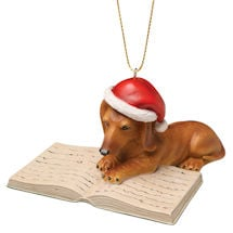 Well-Read Dachshund Ornament