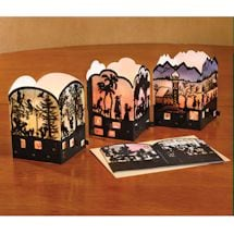 Silhouette Mini Advent Lantern Cards