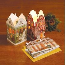 Houses Mini Advent Lanterns