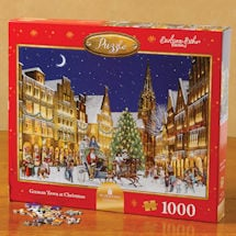 German Town at Christmas Puzzle