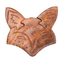 Fox Wooden Puzzle Box