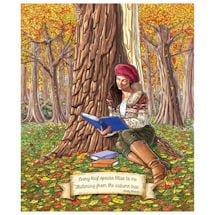 Autumnal Reader Note Cards