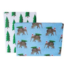 Peaceful Elephants Gift Wrap