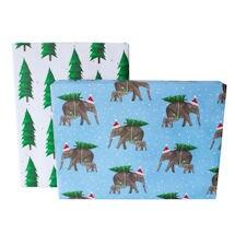Peaceful Elephants Gift Wrap