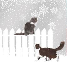 Snowfall Cats Napkins - Set of 2