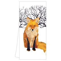 Winter Wildlife Tea Towels: Winter Fox