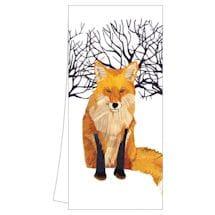 Winter Wildlife Tea Towels: Winter Fox