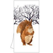 Winter Wildlife Tea Towels: Winter Squirrel