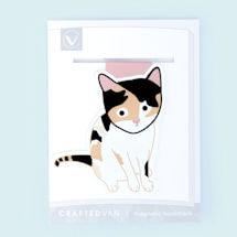 Magnetic Bookmark: Calico Cat (set 2)