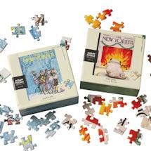 New Yorker Christmas Mini Puzzles (Caroling & Yule Dog)