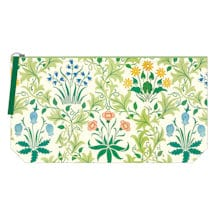 William Morris Embroidered Pouch: Celandine