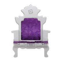 Throne Bookchair (Silver and Purple)