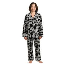 Word Play Flannel PJs: Plus Size
