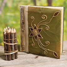 Natural Leaf Bamboo Journal