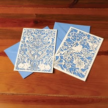William Morris Laser Cut Cards (Set of 2 Designs)