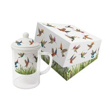 Meadow Buzz Glass Tea Mug