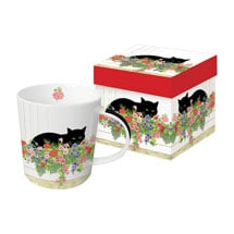 Window Box Cat Mug