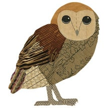 Woodsy Wooden Brooch: Owl