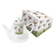 Meadow Buzz Glass Tea Pot