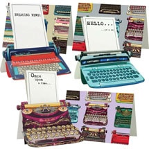 Typewriter Pop-Up Note Cards
