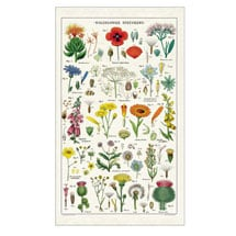 Vintage Wildflowers Tea Towel