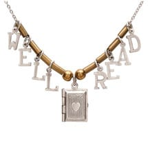 Well Read Locket Necklace