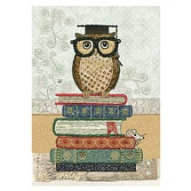 Gold Foil Library Note Cards (set of two)
