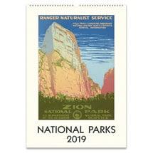 2019 National Parks Vintage Posters Calendar