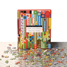 Frank Lloyd Wright Gold Foil Puzzle