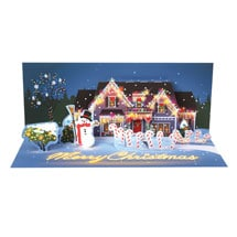 Holiday Lights Pop-Up Christmas Card
