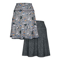 Reading Kitties Reversible Skirt