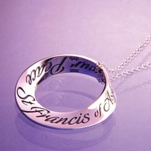 St. Francis Prayer Mobius Necklace