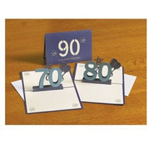 Pop Up 70th Birthday Greeting Card