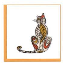 Quilling Cards - Cat