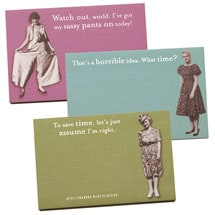 Saucy Lady Sticky Notes (set of 3)