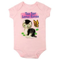 Shy Little Kitten Bodysuit (pink)