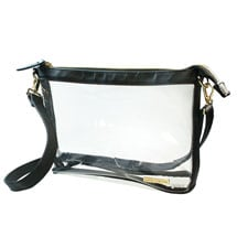 Clear Crossbody Bag: Black