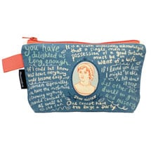 Jane Austen Zipper Pouch