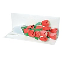 Rose Bouquet Pop-Up Card