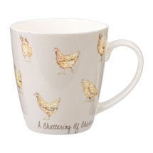 Country Crowd Mugs - Chickens