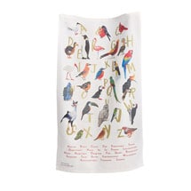 Alphabet Bird Towel
